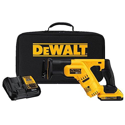 DEWALT 20V MAX Cordless Reciprocating Saw Kit, Compact, 2-Amp Hour (DCS387D1)