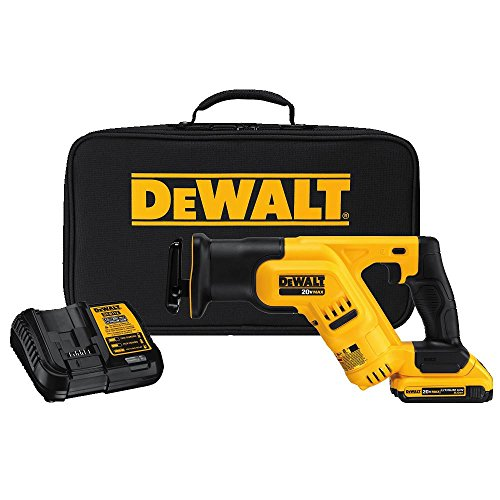 DEWALT 20V MAX Cordless Reciprocating Saw Kit, Compact, 2-Amp Hour (DCS387D1)