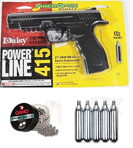 Promohobby Pack Daisy Power Line 415 4,5mm + Lata de 500 perdigones Gamo Steel BB'S (Acero) 4,5mm + 5 Botellas CO2