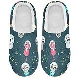 Linomo Zapatillas de astronauta con animales para mujeres, zapatillas de casa para mujer, zapatos de interior, multicolor, 43/44 EU