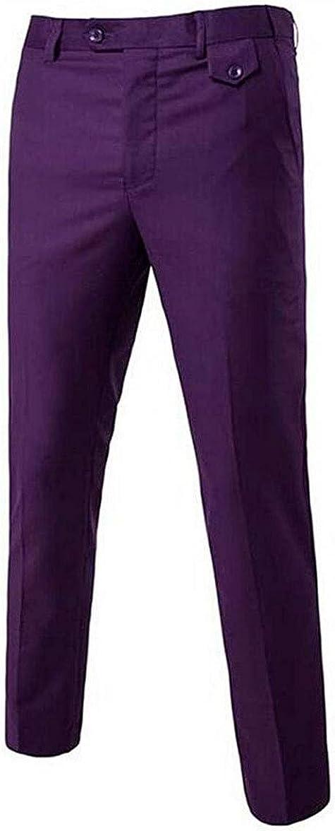Botong Men's Slim Fit Dress Pants Wrinkle-Free Flat Front Suit Pants Stretch Casual Pants Comfort Dress Trousers