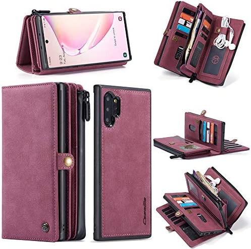 GFU Detachable 2 in 1 Samsung Galaxy Note 10 Wallet Case 5G Hard TPU Leather Card Holder Hidden product image