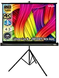 Inlight Cineview 8 Ft - Width x 6 Ft - Height Tripod Projector Screen, Full HD 1080 P, UHD-3D-4K...