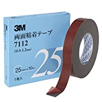 3M 7112 両面粘着テープ 25mm×10m【6箱/ケース】