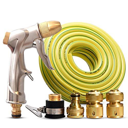 Slangmondstuk, Slangsproeier spuitpistool - Hoge druk metalen sproeier voor auto wassen/planten water geschikte tuinslang accessoryset+40m messing
