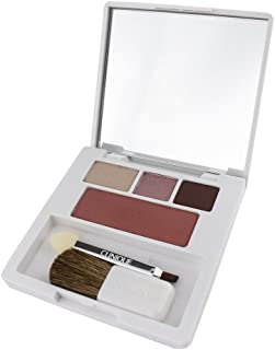 Clinique Colour Surge Shadow Trio & Blush Palette - Link Mink/Pink Chocolate/Chocolate Chip/Fig - Travel Size
