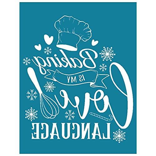 Plantilla de serigrafía autoadhesiva para hornear is My Love Language