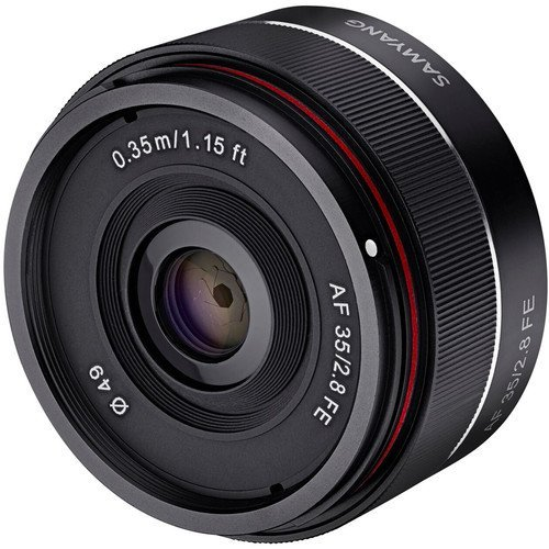Samyang SYIO35AF-E 35mm f/2.8 Ultra Compact Wide Angle Lens for Sony E Mount Full Frame, Black (Renewed)