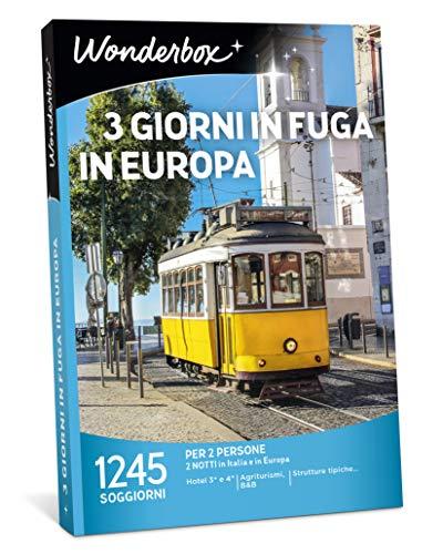 Wonderbox - Cofanetto Regalo - 3 Giorni in Fuga in Europa - valido per 3 Anni e 3 Mesi