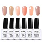 Elite99 Vernis Semi permanent Lot de Vernis à Ongles 6pcs Nail Gel Kit Manucure UV LED Soakoff Pour ongle et pédicure, 10ml 001