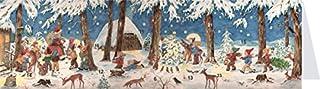 Panoramic Christmas envelope Animals Playing