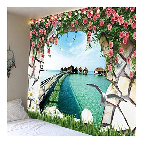 Jue Tapiz tapices Playa Jardín Mandala Hippie Trippy Grandes Manteles tapicería de la Pared Hogar for la decoración del Dormitorio zxy (Color : A, Size : 150 * 150cm)