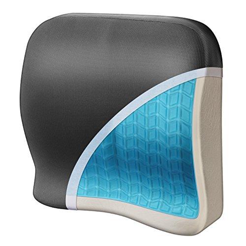 Wagan IN9112 Relax Fusion Lumbar Memory Foam and Gel Seat Cushion