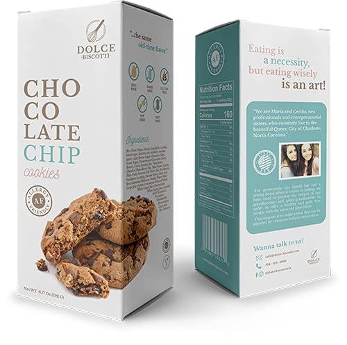 Dolce Biscotti Chocolate Chip Gluten Free, Allergy Friendly, Vegan Cookies