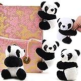 TUANTUAN 5 PCS Finger Panda Adorable Panda Clips Plush Panda Doll Bookmark Notes Clip Photo Holder Stand Memo Clip Indoor Plant Home Decoration