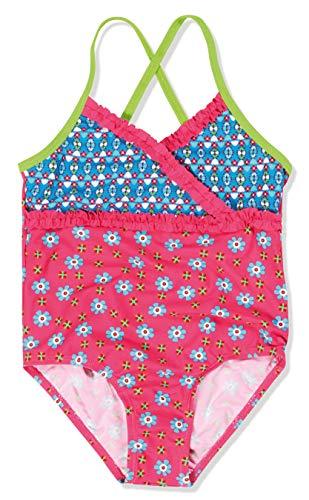 Playshoes Mädchen Einteiler Badeanzug Blumen, UV-Schutz nach Standard 801 und Oeko-Tex Standard 100, Gr. 122 (Herstellergröße: 122/128), Mehrfarbig (original 900)
