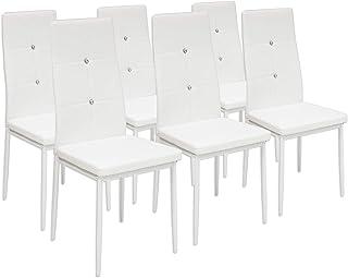Albatros 3099 Diamond Set de 6 sillas de Comedor Blanco SGS Tested