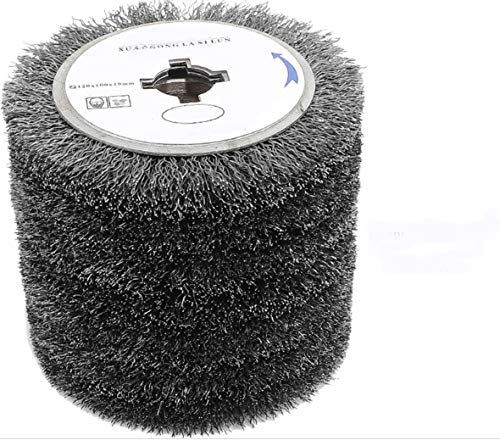 SIGNI 120mm Stainless Steel Wire Brush Wheel Drawing Wheel for Metal Surface Polishing Grinding Removing Rust (0.3 Wire)