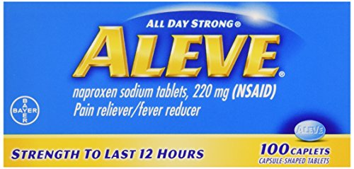 Aleve All Day Strong Pain Reliever, Fever Reducer, Caplet, 100 ct (005134)