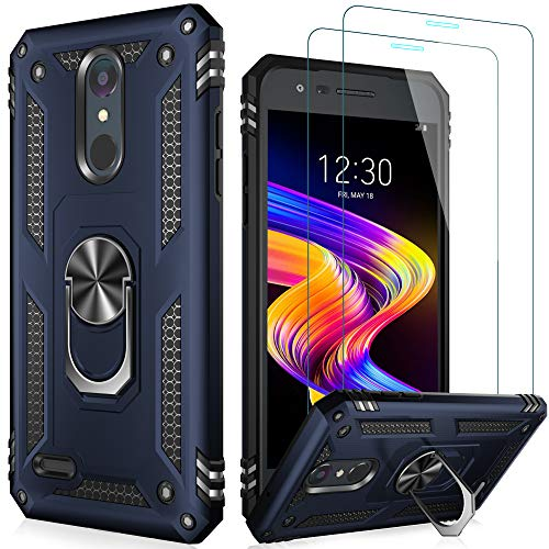 LUMARKE Tribute Empire Case with Screen Protector,Aristo 3 Case,Aristo 2/2 Plus/Zone 4/Rebel 4 LTE/Phoenix 4/Tribute Dynasty Case,Shockproof Cover with Kickstand Protective Phone Case Blue