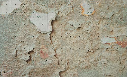 Forwall Fototapete Blue Back Tapete Betonwand Textur - Zerkratzt Mauer Betonoptik Fototapeten Wandtapete moderne Wandbild Wand Schlafzimmer Wohnzimmer 2694P8 368cm x 254cm