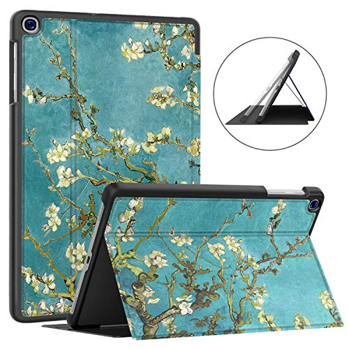 Soke Case for Galaxy Tab A 10.1 2019 (SM-T510/T515), Ultra Slim TPU Backshell, Folio Stand Cover with Multi-Viewing Angles For Samsung Galaxy Tab A 10.1 Inch 2019 Tablet, Apricot Blossom