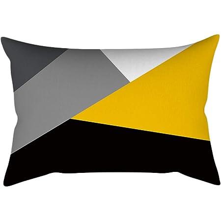 Nouveau! Mamum Taie d'oreiller pour Housse de Coussin décor à la Maison Ananas, taie d'oreiller Jaune Feuille canapé Taille Voiture taie d'oreiller 30 x 50 cm (F)