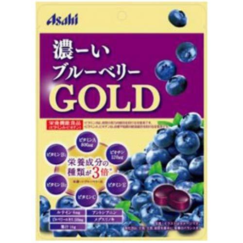 アサヒ 濃ーいブルーベリー GOLD 64g キャンディ