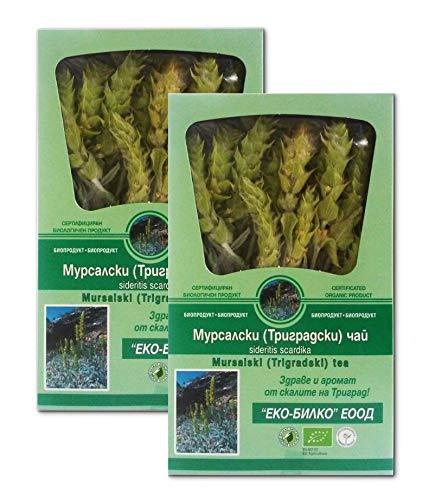 Mursalski-Tee - Bergtee (Sideritis scardica) - 100% Bio, Verjüngung und Langlebigkeit, 2 x 20 mg - 40 Portionen