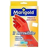 Marigold Il Sensibile 145679 Guanto, Minimo Spessore, Felpato in Puro Cotone, Manica Lunga con Bordino Frenagocce Antistrappo, L