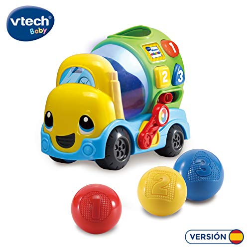 VTech-80-601922 Mixter, camión hormigonera Infantil con más de 75 melodías, Canciones y Voces, enseña Formas, números y a Mezclar los Colores Mediante Luces, (3480-601922)