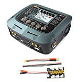SKYRC Q200 1 to 4 Intelligent Charger/Discharger AC/DC Drone Balance Charger with XT60 Connector XT30 1S-3S Plug Parallel Charging Plate 4.0mm Plug for Lipo/ NiMH/NiCD/Lead-Acid Battery (UK Version)