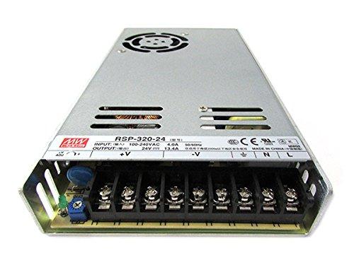 KingLed – MeanWell Fuente de alimentación Meanwell Modelo RSP-320-24 de 320W 24V Transformador Switching Mean Well NO resistente al agua IP20 para Tiras LED – cód.1573