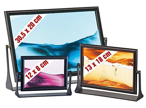 infactory Sandbilder zum Drehen: Sandbilder 3er-Pack: Eldorado, Blue Ocean & Dream Pink (bewegliche Sandbilder)