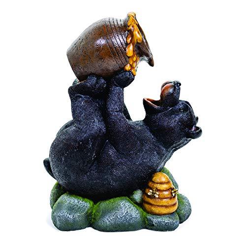 Pine Ridge Black Bear with Honey Pot Fountain