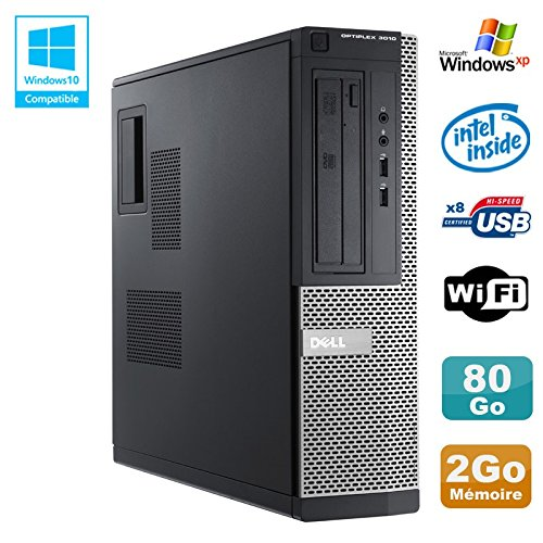 PC Dell Optiplex 3010 DT Intel G640 2,8 GHz 2 GB 80 GB DVD WIFI HDMI Win XP (Generalüberholt)