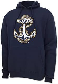 United States Navy Embroidered Big Anchor Fleece Hood