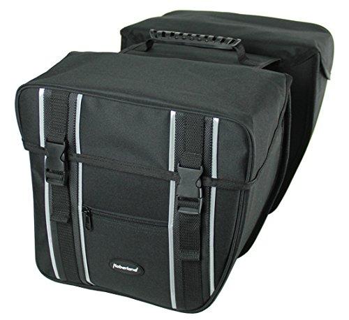 Haberland Doppelpacktasche mit Vortaschen schwarz, 30x32x16,5cm, 31Liter