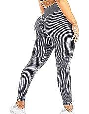 RIOJOY Gym leggings kvinnor hög midja sport rumpa lyfter scrunch yogabyxor