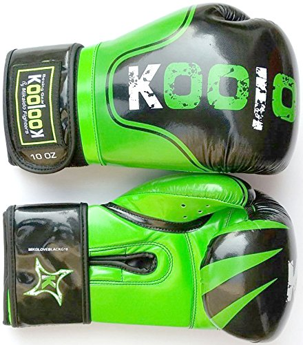 Guantoni da Boxe Koolook Mikaido black - green 10 OZ