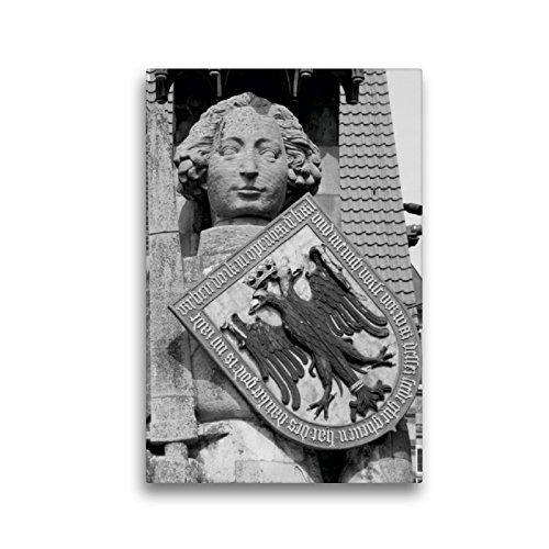 Premium Textil-Leinwand 30 x 45 cm Hoch-Format Ritter Roland in Bremen | Wandbild, HD-Bild auf Keilrahmen, Fertigbild auf hochwertigem Vlies, Leinwanddruck von kattobello