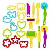 YEES Clay Dough Tools - Juego de herramientas de modelado con 12 herramientas de modelado, cortador de formas de animales, 8 herramientas de modelado, juguete para niños pequeños