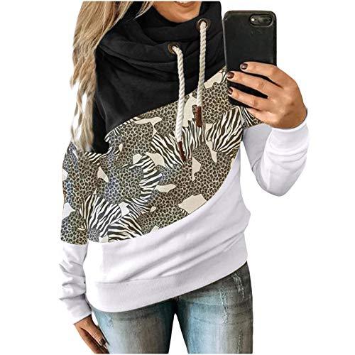 Womens Hoodies Pullover Sport Oversized Hooded Sweatshirt Athletic Hoodies Patchwork Blouses
