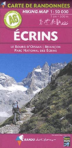 Alpes carte A6 Ecrins - Bourg-d`Oisans - Briançon   1 : 50 000: carte de randonnées