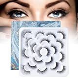 10 Pairs False Eyelashes, Dramatic Style Fake Eyelashes with Natural Look Extension, Soft and Reusable Black Lashes for Women Makeup