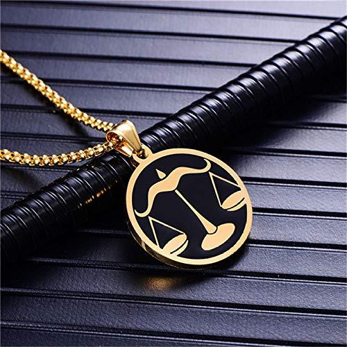 Collar De Constelaciones,Libra 12 Constelaciones Collar De Moda Para H