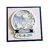 P12cheng Fustelle Metallo Stenci,Slitta di Natale Die Cuts Stencil per DIY Scrapbooking Carte di Carta Craft Emboss Xmas Card Artigianato Decor Silver