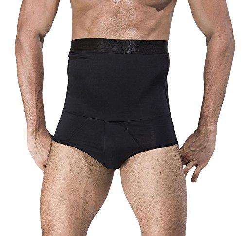 Panegy Men Bauchformer mit Boxershorts Korsett Shapewear Shorts Medium Schwarz