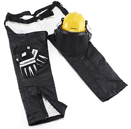 Universal Kettensägen-Schutzset, PRO017: Schutz-Set für Arbeiten mit Kettensägen bestehend aus Forsthelm, Schnittschutz-Beinlingen und Handschuhen (Artikel-Nr. 00057-76.165.17)