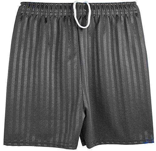 Kentex Online Boys Girls Unisex Shadow Stripe Gym Sports Football Games School PE Shorts (X-Large (9-10 Years), Black)